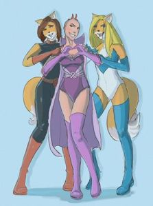 AK Girl, Wondervixen and Periwinkle by Susie Gander