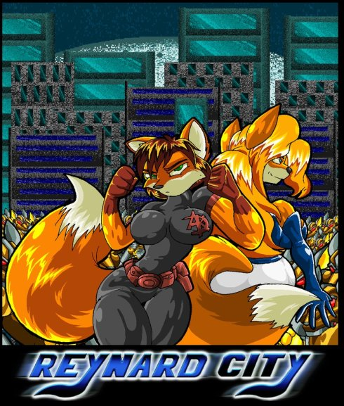 Reynard City Video Game Cover by Terry Chavez