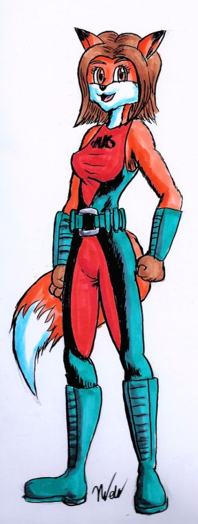 Here's a sneak preview of AK Girl's new look for Reynard City Chronicles!