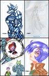 Sketch cards by Strider Syd
